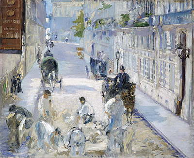 The Rue Mosnier with Pavers, 1878 | Manet | Painting Reproduction