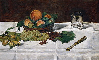 Still Life: Fruit on a Table, 1864 | Manet | Giclée Canvas Print