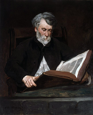The Reader, 1861 | Manet | Painting Reproduction