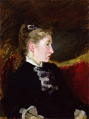 Profile of a Young Girl - Mlle. Ellen Andree, c.1860 | Manet | Giclée Canvas Print