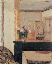 Vuillard | Vase of Flowers on a Mantelpiece | Giclée Canvas Print
