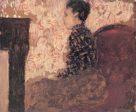 Woman Sitting by the Fireside, c.1894 | Vuillard | Giclée Canvas Print