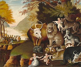 Edward Hicks | Peaceable Kingdom, c.1834 | Giclée Canvas Print