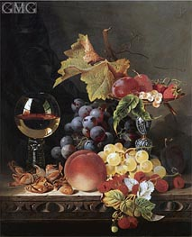 Edward Ladell | Still Life with a Wine Goblet and Silver Tazza | Giclée Canvas Print
