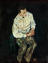 Schiele | Portrait of Karl Gruenwald | Giclée Canvas Print