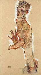 Schiele | Self-Portrait with Splayed Fingers, 1911 | Giclée Paper Print