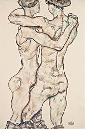 Schiele | Naked Girls Embracing | Giclée Paper Print