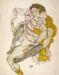 Schiele | Seated Couple | Giclée Paper Print