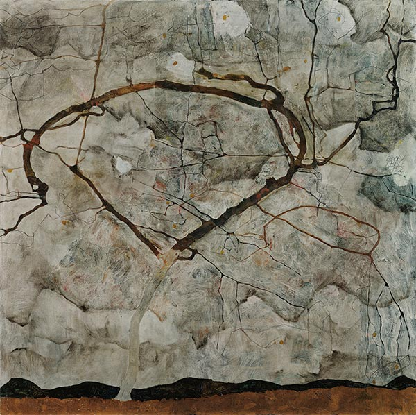 Autumn Tree in Stirred Air (Winter Tree), 1912 | Schiele | Painting Reproduction