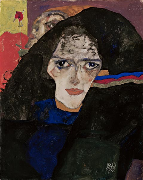 Mourning Woman, 1912 | Schiele | Painting Reproduction