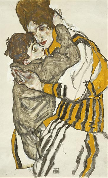 Schiele's Wife with Her Little Nephew, 1915 | Schiele | Giclée Paper Print