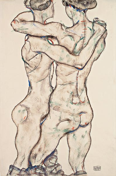 Naked Girls Embracing, 1914 | Schiele | Giclée Paper Print