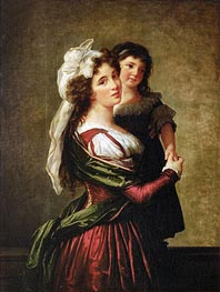 Elisabeth-Louise Vigee Le Brun | Madame Rousseau and her Daughter, 1789 | Giclée Canvas Print