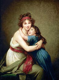 Elisabeth-Louise Vigee Le Brun | Madame Vigee-Lebrun and her Daughter Jeanne-Lucie-Louise, 1789 | Giclée Canvas Print
