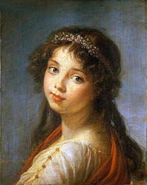 Elisabeth-Louise Vigee Le Brun | Portrait of the Artist's Daughter, undated | Giclée Canvas Print