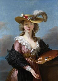 Elisabeth-Louise Vigee Le Brun | Self Portrait in a Straw Hat | Giclée Canvas Print