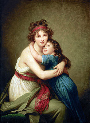 Madame Vigee-Lebrun and her Daughter Jeanne-Lucie-Louise, 1789 | Elisabeth-Louise Vigee Le Brun | Painting Reproduction