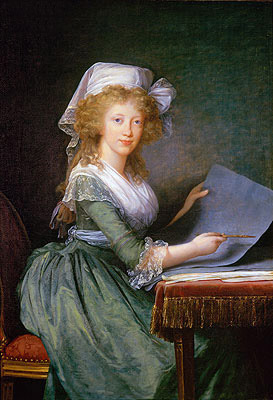 Mary Louise of Bourbon-Sicily, Grand Duchess of Tuscany, 1790 | Elisabeth-Louise Vigee Le Brun | Painting Reproduction