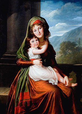 Elisabeth-Louise Vigee Le Brun | The Countess von Schonfeld with Her Daughter, 1793 | Giclée Canvas Print