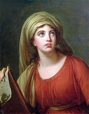 Portrait of Emma Hart, later Lady Hamilton, as a Sibyl, c.1792 | Elisabeth-Louise Vigee Le Brun | Painting Reproduction
