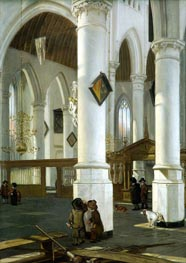 Emanuel de Witte | Interior of the Old Church in Delft, c.1650/52 | Giclée Canvas Print