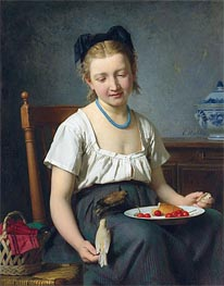 Emile Auguste Hublin | The Snack, 1870 | Giclée Canvas Print