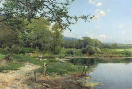 Emilio Sanchez-Perrier | A Picnic on the Riverbank, 1886 | Giclée Canvas Print