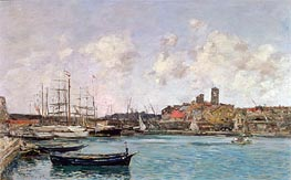 Eugene Boudin   View of Antibes, 1893   Giclée Canvas Print