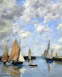 Eugene Boudin   The Jetty at High Tide, Trouville, Undated   Giclée Canvas Print