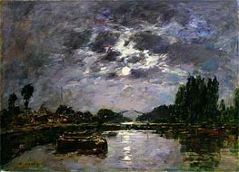 Eugene Boudin   The Effect of the Moon, 1891   Giclée Canvas Print