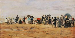 Eugene Boudin | Beach at Trouville, 1880 | Giclée Canvas Print