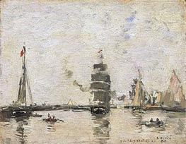 Eugene Boudin | Boats in Trouville Harbor, 1894 | Giclée Canvas Print