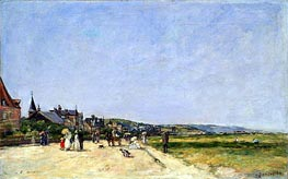 Eugene Boudin | Deauville, the Terrace, 1882 | Giclée Canvas Print