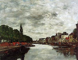 Eugene Boudin | A Canal near Brussels, 1891 | Giclée Canvas Print