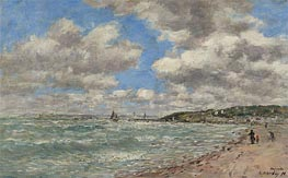 Eugene Boudin | The Shore of Deauville, 1896 | Giclée Canvas Print