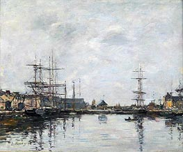 Eugene Boudin | Fecamp, the Basin, 1894 | Giclée Canvas Print