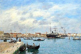 Eugene Boudin | Venice, the Grand Canal, 1895 | Giclée Canvas Print