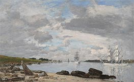 Eugene Boudin   The Bay at the Mouth of the River Elorn, Landerneau, 1871   Giclée Canvas Print