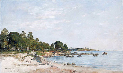 Juan-les-pins, the Bay and the Shore, 1893 | Eugene Boudin | Giclée Canvas Print