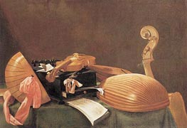 Baschenis | Still-life with Musical Instruments, c.1650 | Giclée Canvas Print