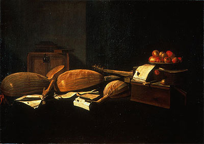 Still Life with Musical Instruments, c.1664/66 | Baschenis | Giclée Canvas Print