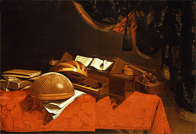 Still Life with Musical Instruments, Undated | Baschenis | Giclée Canvas Print