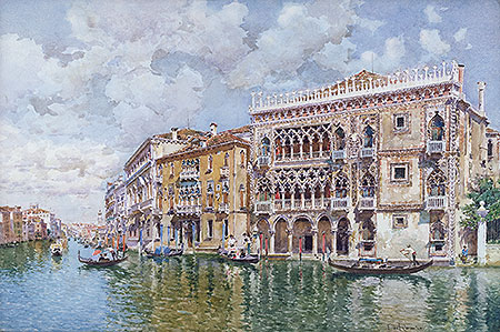 Ca' d'Oro, Venice, undated | Federico del Campo | Painting Reproduction