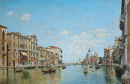 View of the Grand Canal of Venice, 1913   Federico del Campo   Painting Reproduction