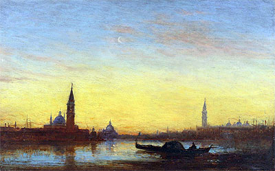 Felix Ziem | San Giorgio at Sunset, Undated | Giclée Canvas Print