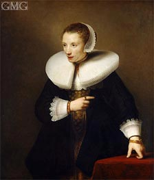 Ferdinand Bol | Portrait of an Woman, c.1642/44 | Giclée Canvas Print