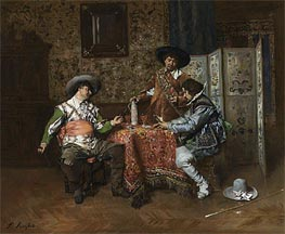 Ferdinand Victor Leon Roybet | A Game of Cards, Undated | Giclée Canvas Print