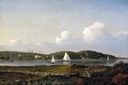 Fitz Henry Lane | Fresh Water Cove from Dolliver's Neck, Gloucester, c.1850/54 | Giclée Canvas Print
