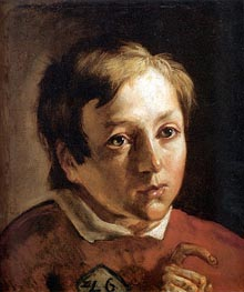 Ford Madox Brown | Head of a Page Boy, c.1837 | Giclée Canvas Print