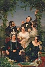 Ford Madox Brown | Family Group (The Bromley Family), 1844 | Giclée Canvas Print